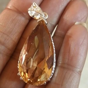 Jewelry - Morganite pendant Sterling Silver new